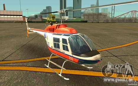 Bell 206 B Police texture2 pour GTA San Andreas laissé vue