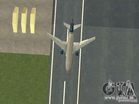 McDonell Douglas DC10 United Airlines pour GTA San Andreas vue intérieure