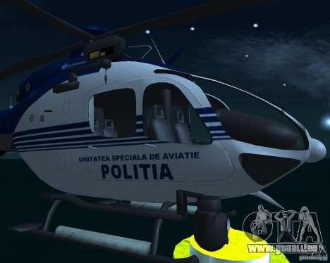 EC-135 Gendarmerie Police pour GTA San Andreas vue de droite