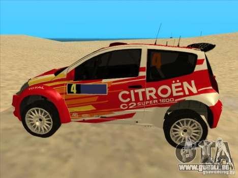 Citroen Rally Car pour GTA San Andreas laissé vue