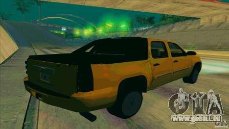 Chevrolet Avalanche 2011 pour GTA San Andreas laissé vue
