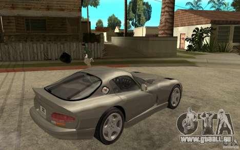Dodge Viper GTS pour GTA San Andreas vue de droite