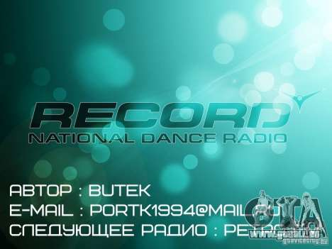 Radio Record by BuTeK GTA Vice City pour la troisième écran