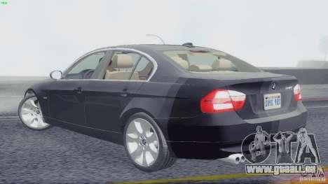 BMW 330i e90 pour GTA San Andreas laissé vue