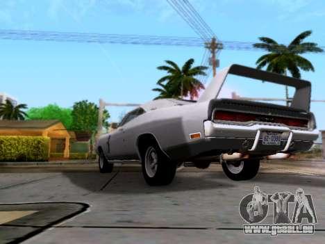 Dodge Charger RT für GTA San Andreas Rückansicht