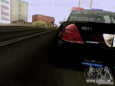 Ford Crown Victoria Los Angeles Police pour GTA San Andreas vue intérieure