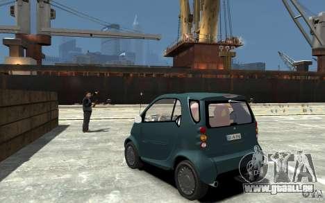 Smart For Two pour GTA 4 Vue arrière de la gauche