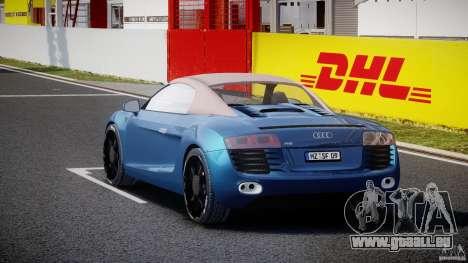 Audi R8 Spyder v2 2010 pour GTA 4 est un côté
