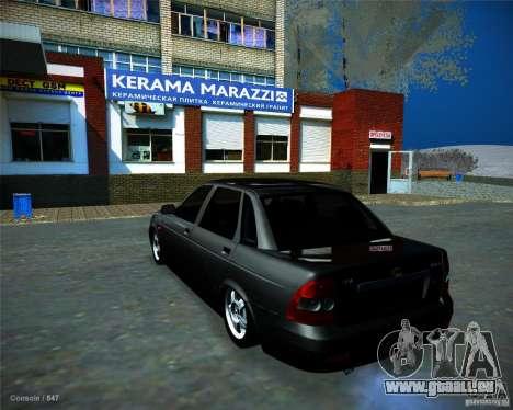 Lada Priora Vip Style pour GTA San Andreas laissé vue