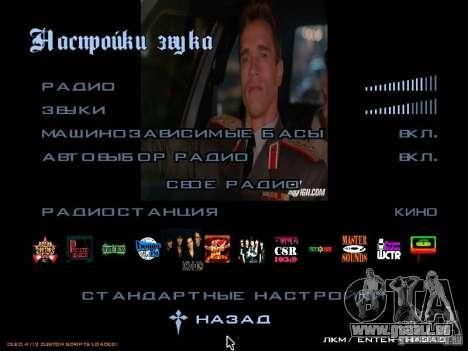 Radio group films pour GTA San Andreas troisième écran