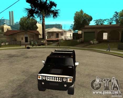 AMG H2 HUMMER SUV FBI pour GTA San Andreas vue arrière