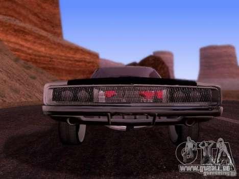 Dodge Charger 1970 Fast Five pour GTA San Andreas sur la vue arrière gauche