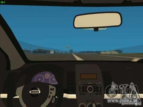 Nissan Sentra 2012 pour GTA San Andreas vue arrière