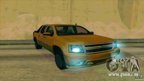 Chevrolet Avalanche 2011 für GTA San Andreas