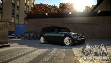 Mini Cooper Clubman für GTA 4 Rückansicht