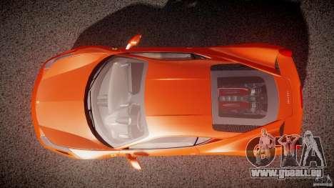Ferrari 458 Italia 2010 pour GTA 4 vue de dessus