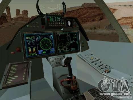 T-50 Pak Fa pour GTA San Andreas vue de côté