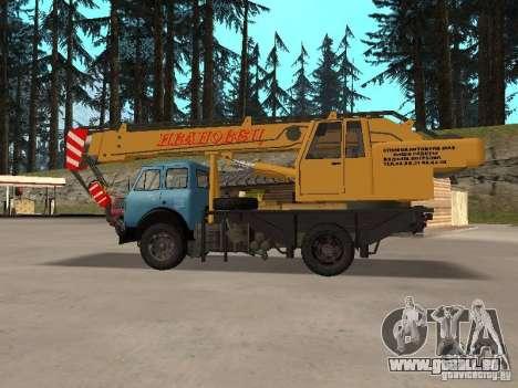 MAZ KS3577-4-1 Ivanovets pour GTA San Andreas laissé vue