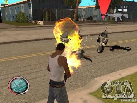 Outre le HUD de GTA IV pour GTA San Andreas septième écran