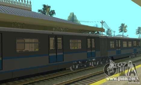 4 Rusich train pour GTA San Andreas vue arrière