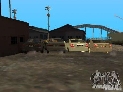 Toyota Camry 2003 für GTA San Andreas obere Ansicht