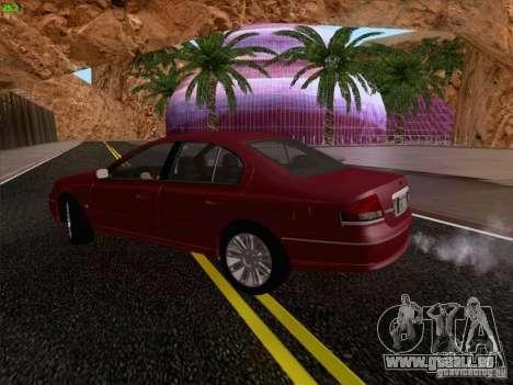 Ford Falcon Fairmont Ghia pour GTA San Andreas vue intérieure