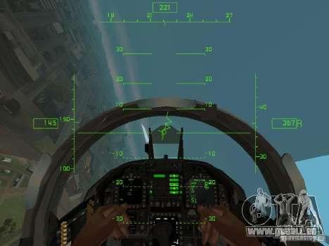 Aviation HUD pour GTA San Andreas troisième écran