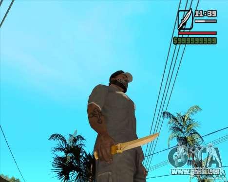 Couteau du Prince pour GTA San Andreas deuxième écran
