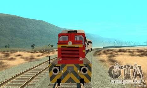 Locomotive LDH 18 pour GTA San Andreas laissé vue