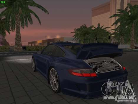 Porsche 911 GT3 pour GTA San Andreas vue intérieure