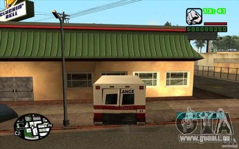Toutes les machines sont peintes + personnes ent pour GTA San Andreas deuxième écran