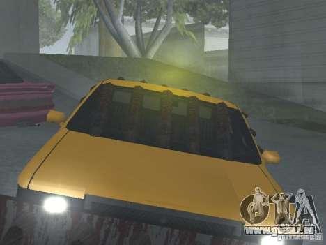 Zombie Taxi für GTA San Andreas Innenansicht