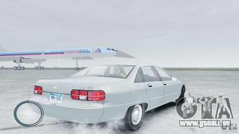 Chevrolet Caprice 1993 pour GTA 4 Vue arrière de la gauche