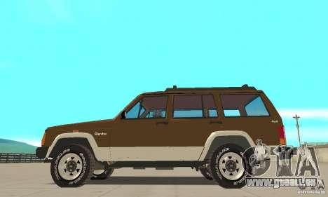 Jeep Grand Cherokee 1986 pour GTA San Andreas laissé vue