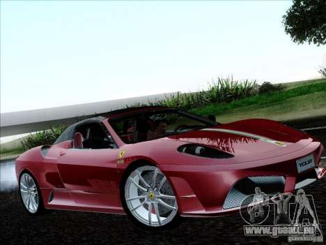 Ferrari F430 Scuderia Spider 16M für GTA San Andreas Rückansicht