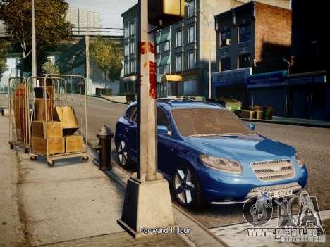 Hyundai Santa Fe pour GTA 4 Vue arrière de la gauche