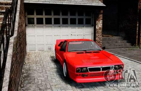 Lancia 037 Stradale für GTA 4 hinten links Ansicht