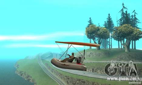 Wingy Dinghy (Crazy Flying Boat) für GTA San Andreas linke Ansicht