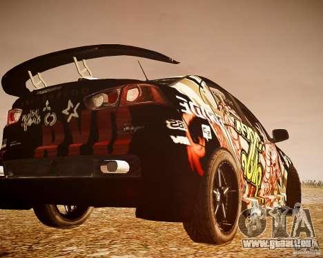 Mitsubishi Lancer Evo X Ryo King pour GTA 4 Vue arrière de la gauche