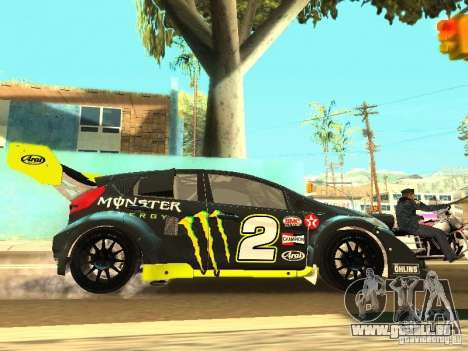 Ford Fiesta Rally Time für GTA San Andreas obere Ansicht