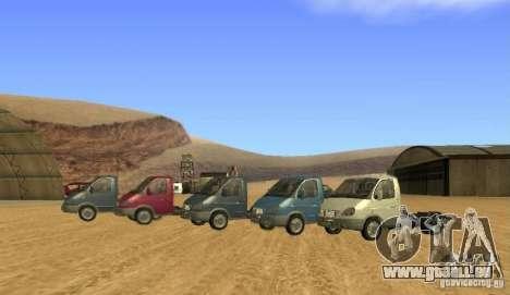 3302 Gazelle pour GTA San Andreas vue arrière