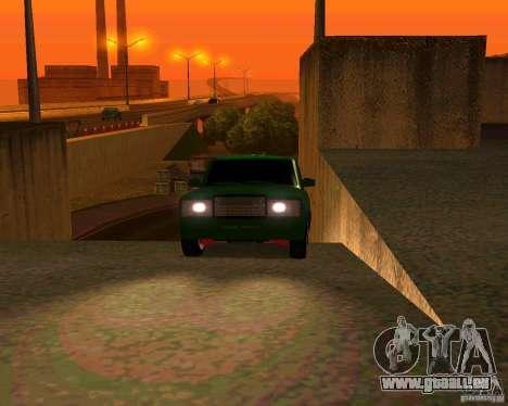 VAZ 2107 Hobo v. 1 für GTA San Andreas Rückansicht