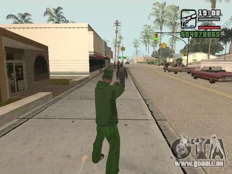 Ragdoll + Endorphin mod v1.0 pour GTA San Andreas deuxième écran