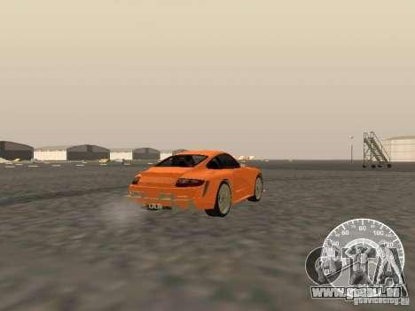 Porsche 911 GT3 Style Tuning pour GTA San Andreas sur la vue arrière gauche