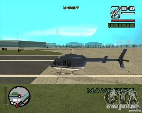 Pilote de l'emploi pour GTA San Andreas deuxième écran