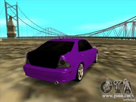 Lexus IS300 - Stock pour GTA San Andreas sur la vue arrière gauche