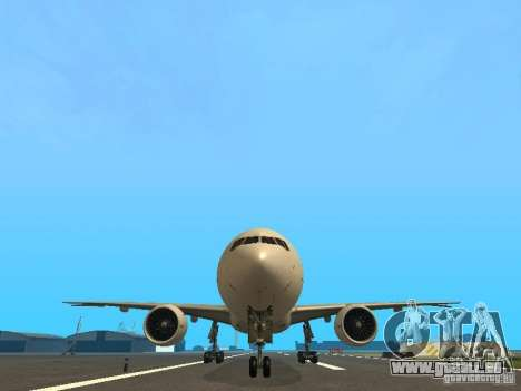 Boeing 777-200 Japan Airlines für GTA San Andreas obere Ansicht