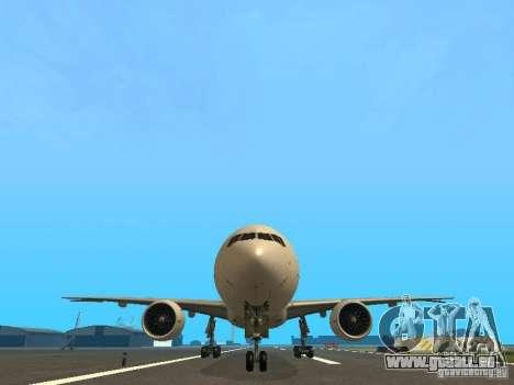 Boeing 777-200 Japan Airlines pour GTA San Andreas vue de dessus
