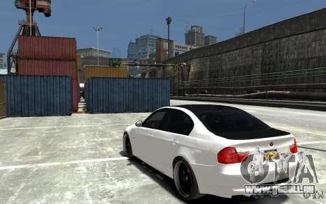 BMW 330i E60 Tuned 2 pour GTA 4 Vue arrière de la gauche