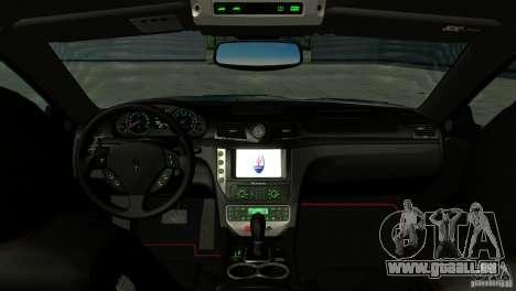 Maserati Gran Turismo 2008 für GTA San Andreas Innenansicht